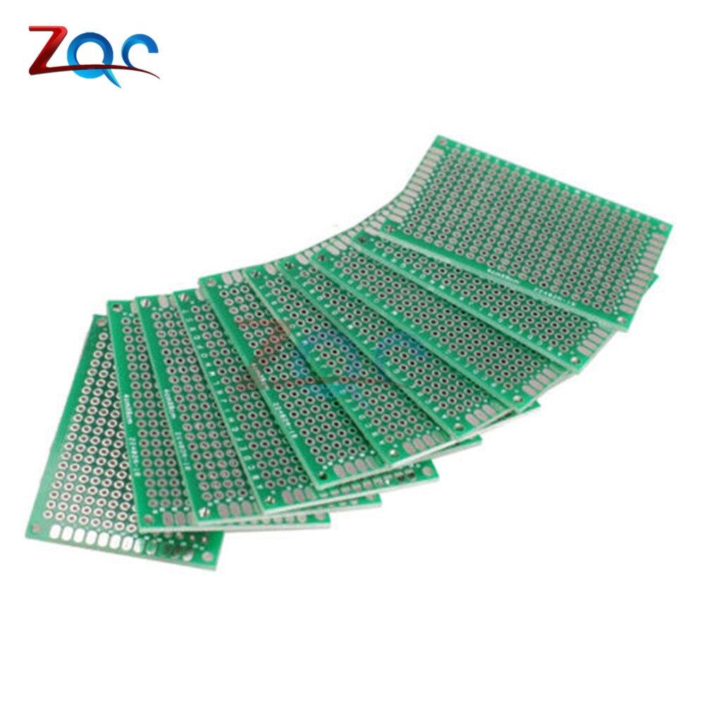 цена на 2pcs 4x6cm FR-4 Double Dual Side Prototype PCB Universal Printed Circuit Board 4cm * 6cm 40mmx60mm 4*6cm