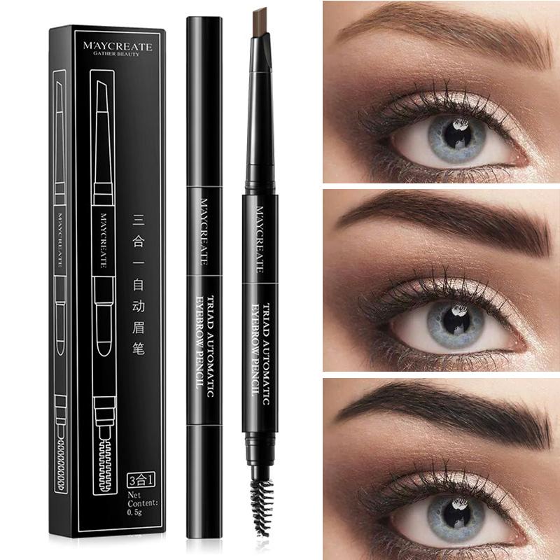 Generic 3 IN 1 Multifunctional Eyebrow Tattoo Pen Waterproof