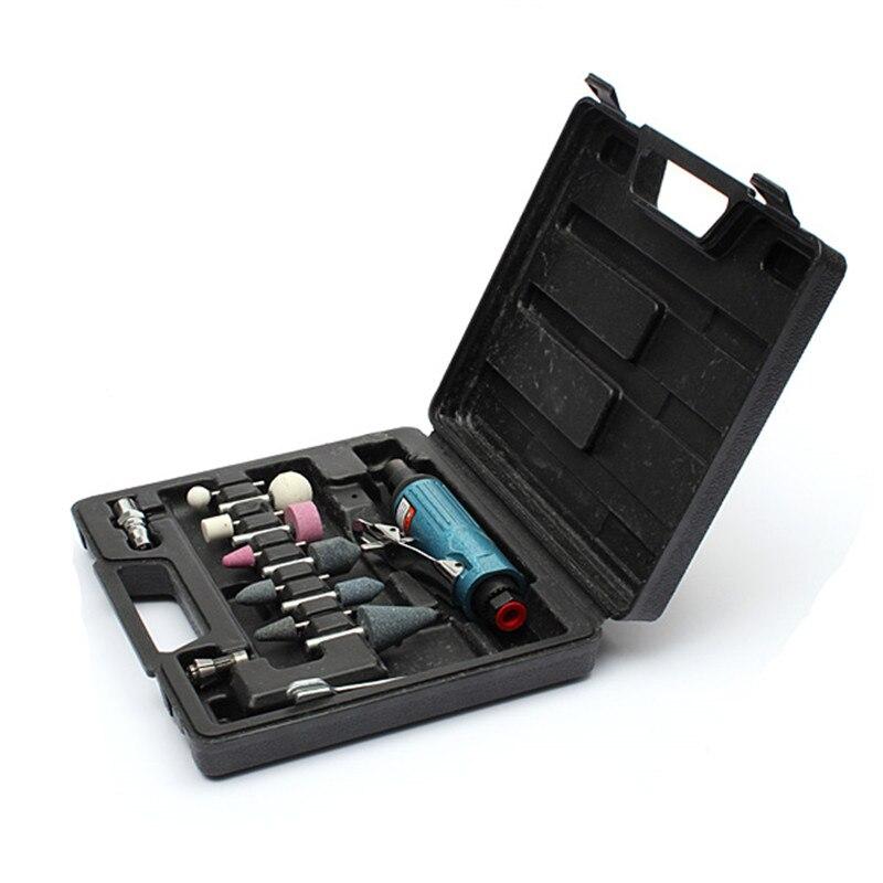 14 stücke Luft Kompressor Die Grinder Schleifen Polnischen Stein Kit 1/4 Air Grinder Mühle Gravur Werkzeuge Kits Pneumatische Werkzeuge