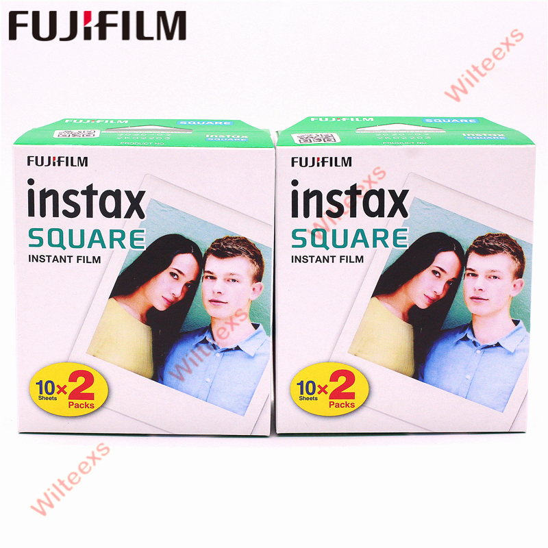 Fujifilm Instax carré instantané bord blanc 2 boîtes Films 20 feuilles pour Instax carré SQ10 format hybride partager sp-3 caméra SQ