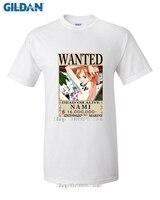 GILDAN Japonais Anime One Piece Roronoa Zoro Nami Bijoux Bonney bande dessinée t-shirt Homme Vete ts New Summer Casual Homme T-shirt