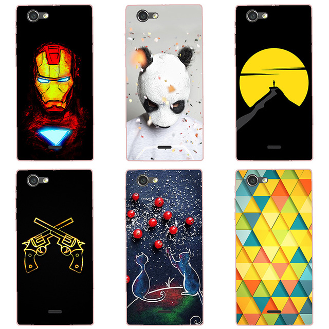 more photos 5f6fa b2f5a US $1.99 |For Sony Xperia J ST26i Case Hard Plastic Back Cover Cases  Painting Abstract Hard Coque Cases Patterned Shell Skin-in Fitted Cases  from ...