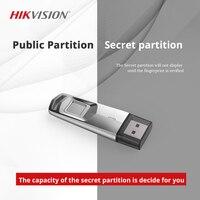 HIKVISION USB flash drive 32GB Pendrive Fingerprint Encrypted USB 3.0 U disk Fast stick For business Interview secret document