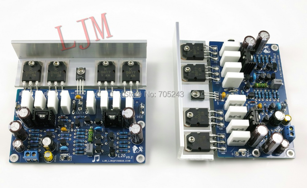 2pcs dual mono HIEND power AMP amplifier board ,2*200W 8ohm assembled& finished  цены