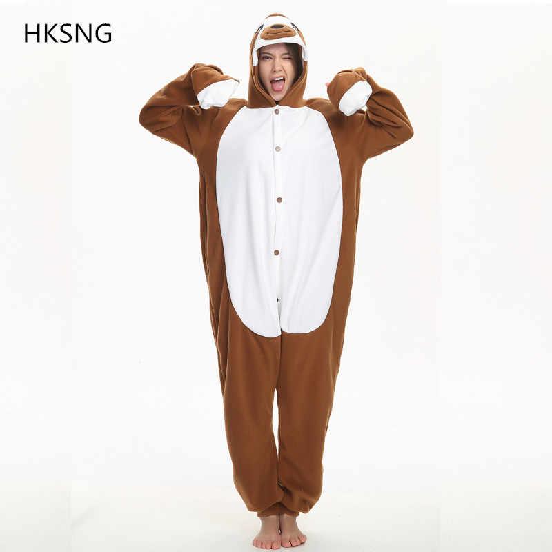 7acd6f75a497 HKSNG Adult Sloth Kigurumi Onesies Pajamas Cartoon Jumpsuit Women Overalls  Sleepwear Winter Party Outfit Soft Warm
