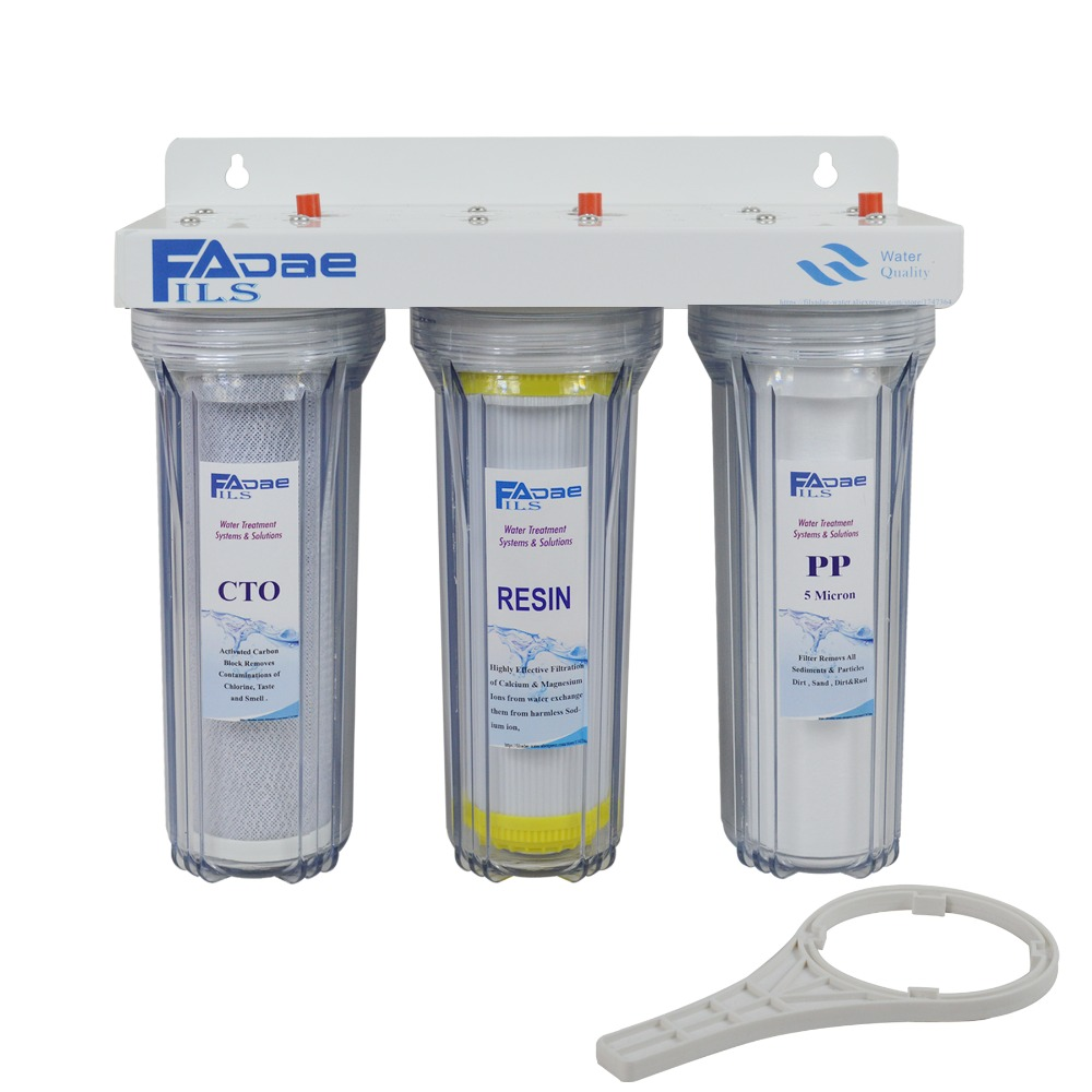 3-Stage Drinking Water Filtration System 3/4