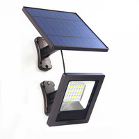 Ousam LED Solar Light With Panel 3M Cable Garden Floodlight Waterproof Wall Solar Lamp For Outdoor Lawn Illumination