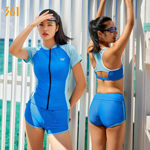 361 Swimsuit Women Two Piece Professional Sports Swimwear Ladies Competitive Training Hot Spring Swimming Suit Bathing