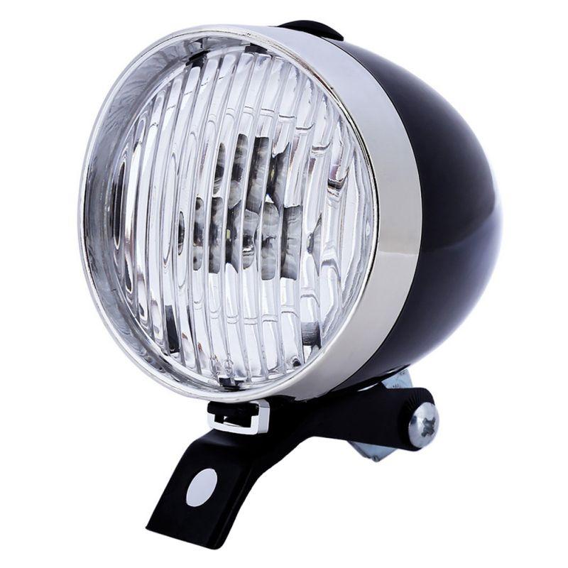 Ретро Велосипедный Спорт велосипед передний свет фар 3 LED Винтаж Фонарик лампы Новые поступление 2017