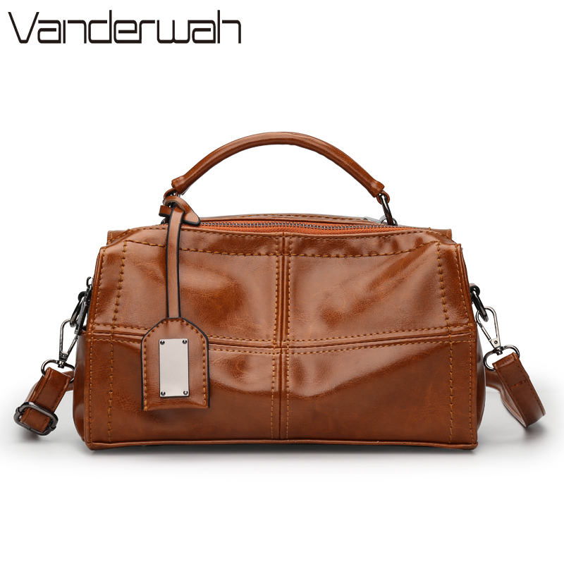 VANDERWAH 2017 New fashion bags for women leather handbags Casual shoulder bag Boston handbags high Quality black women bags SAC miwind new fashion leather handbags high quality women shoulder bags buy one get another free full set 6 pieces more favorable