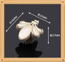 35*28 мм Одно Отверстие ручка сплава Цинка Кухонная Мебель ручка ящика ручка Слоновой Кости белого цвета
