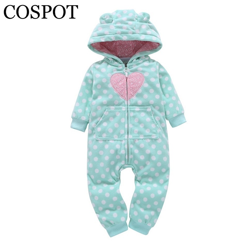 COSPOT 2018 New Newborn Hooded Jumpsuit Fashion Winter Spring Fleece Rompers Jumper Body Suit for Baby Boys Girls Free Ship 40F