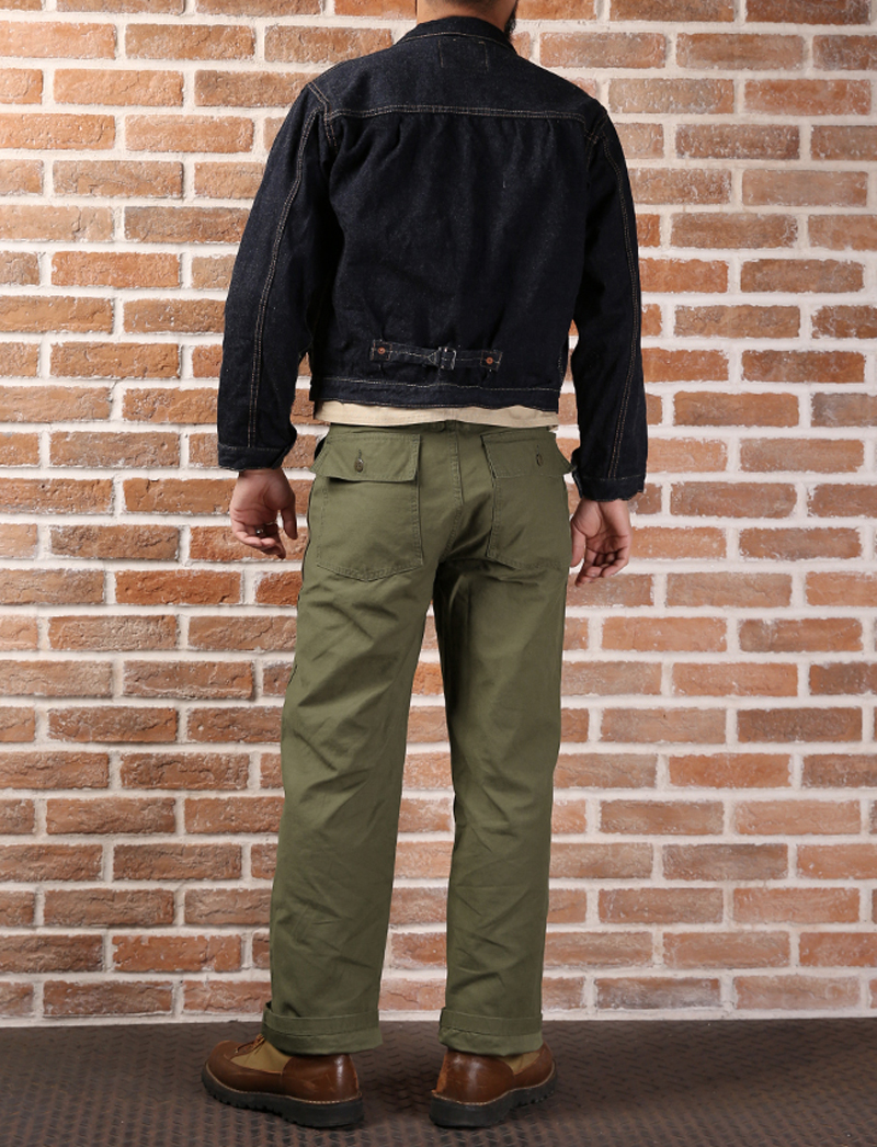 Men's Clothing Casual Pants Bob Dong Mens Vintage Hbt Selvage Og-107 Baker Pants Us Amry 1958 Vietnam War Utility Fatigue Trousers Military Straight Pants