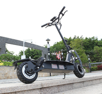 11inch electric scooter Front and rear dual motor drive off road e scooter 60V20AH lithium battery 2400w motor maximum 80