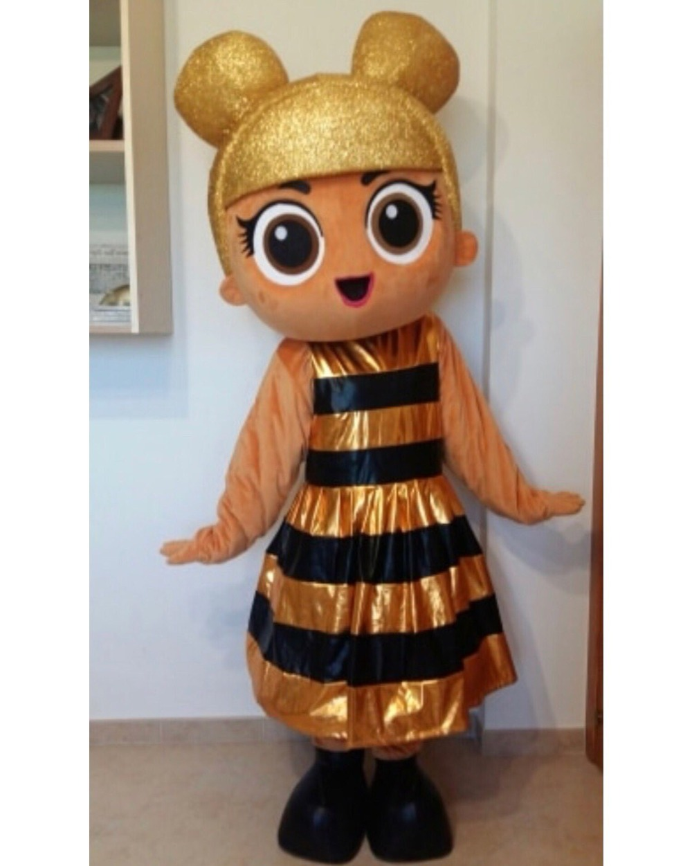 New Adult Cute Deluxe Bee Party Mascot Costume Christmas Fancy Dress Halloween