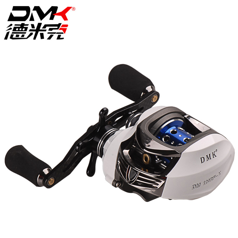 DMK Bait Casting Fishing Reel <font><b>DM120</b></font> RF-X 14BB White Gear Ratio 7.0:1 R/L Hand Water Drop Wheel Baitcasting Reels Fly Fishing image