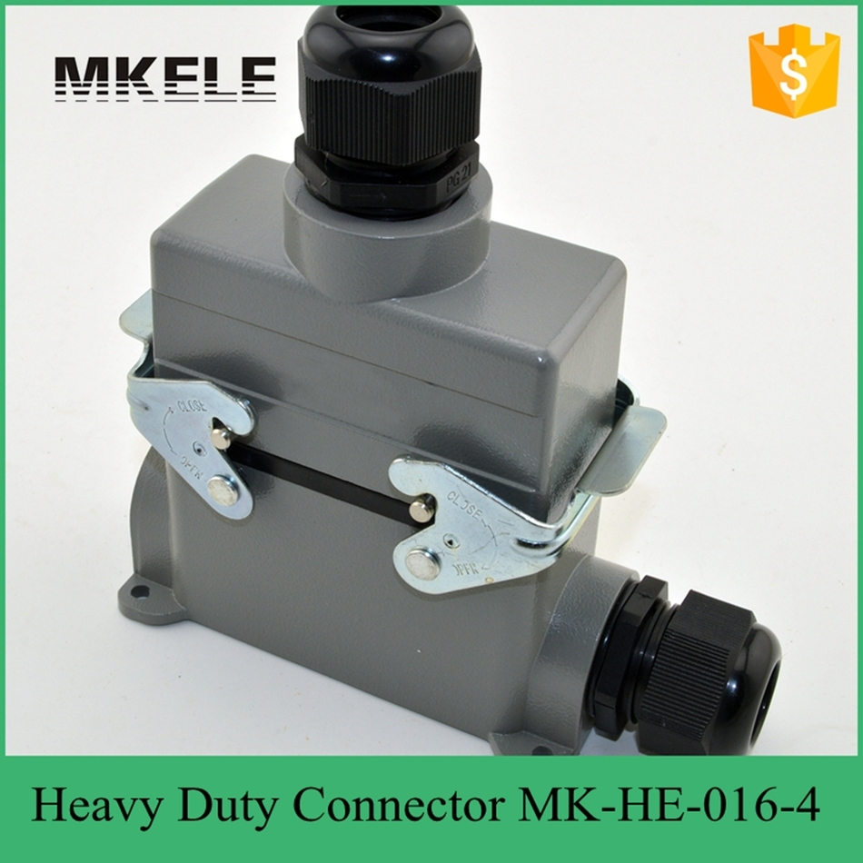 16 PIN 16A Plastic Screw Industrial 400 Volt Wire Aerospace With Heavy Duty Connector MK-HE-016-4 24 pin 16a terminal block power crimp plug heavy duty connectors for spinning and packing machine mk he 024 4d