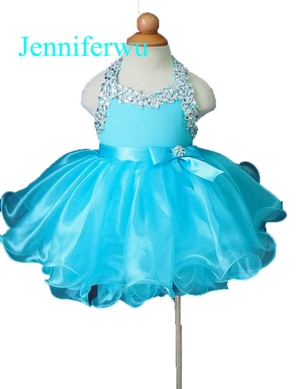 15color available stone beaded baby girl clothes baby pageant dress  girl party dresses flower girl dresses 1T-6T G079 купить