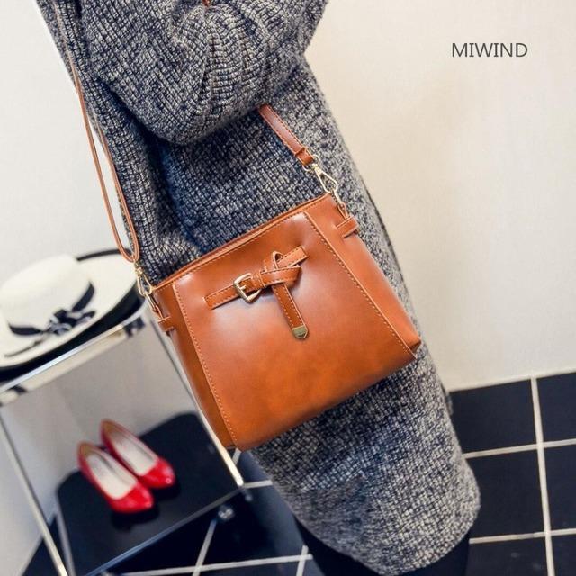 2017 wholesale new tassel shoulder bag female Korean casual handbag fashion small PU square bag 0618 Brown