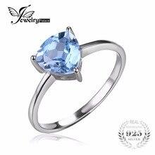 Jewelrypalace трлн 1.5ct голубой topazs камень пасьянс кольцо для женщин стерлингового серебра 925 ювелирные изделия