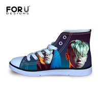 FORUDESIGNS Marcus And Martinus Printing Starts Children Sneakers for Boys Girls Kids Football Boots High Top Sport Shoes Canvas