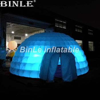 цена на Hot selling giant inflatable tent dome with led inflatable igloo tent air-blow dome party tent for event advertising