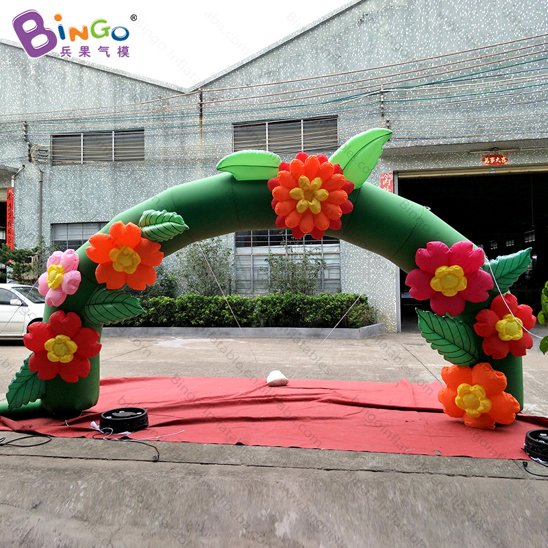 Adaptable Personalized 5x3 Meters Inflatable Flower Arch For Decoration -inflatable Toy Keep You Fit All The Time