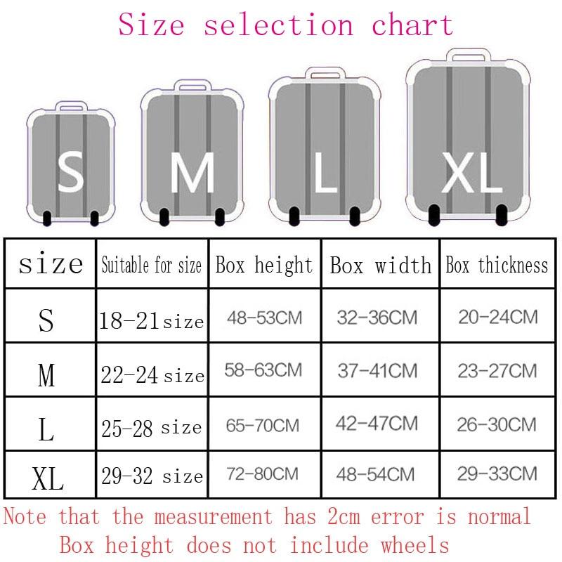 Luggage size chart heart impulsar co