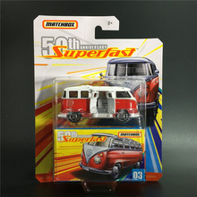 2019 Matchbox 1:64 Cars 50th Anniversary SUPER FAST 59 VOLKSWAGEN 23 MICROBUS Metal Collection Alloy Model Car