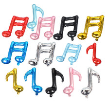 Neue ankunft 8 punkte einzelne noten/16 punkte doppel notizen Folie ballon Geburtstag hochzeit musik partei liefert dekoration ballon
