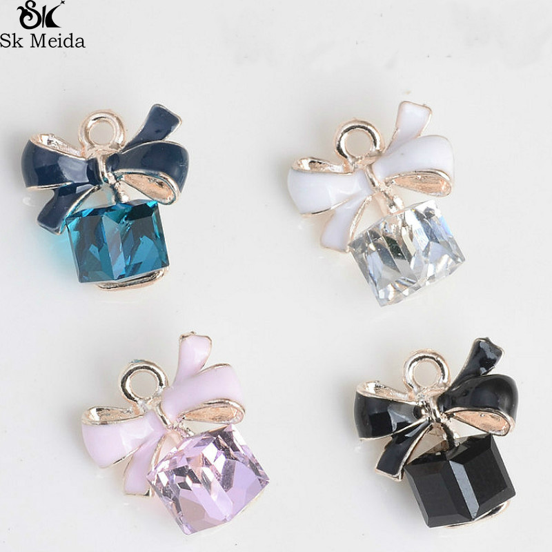 Jewelry Findings Bow-Bracelet Pendant Cube Handmade-Supplies Crystal Beads Diy-Crafts