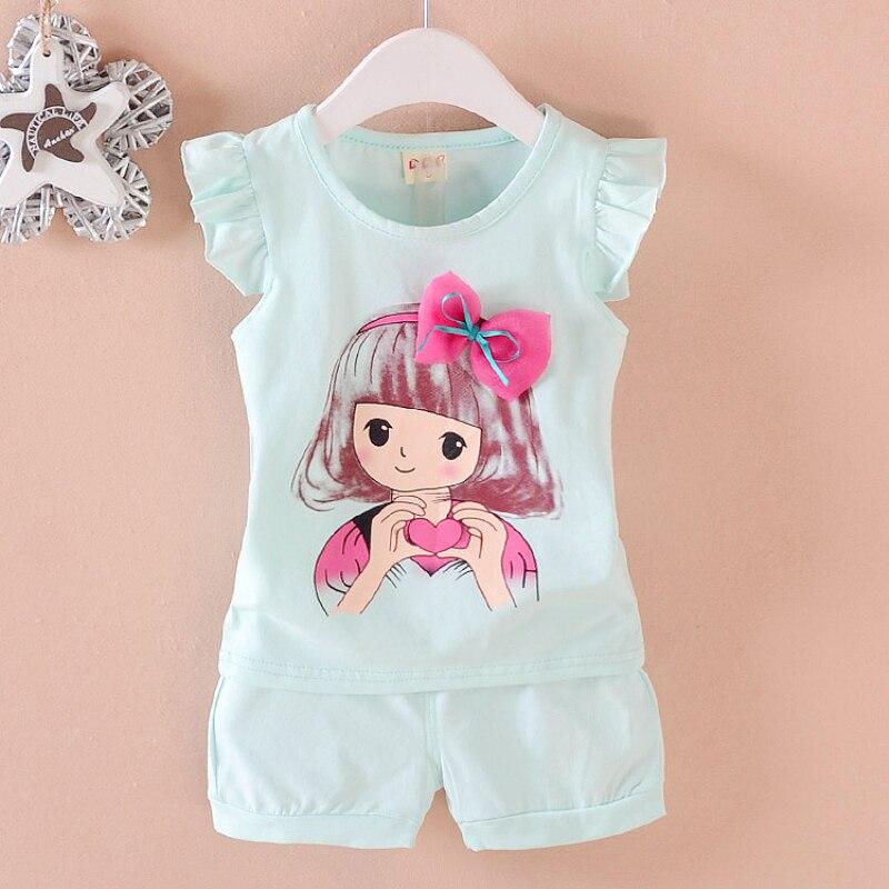 0-2Years 2018 Baby Girl Clothes Set Letnia Bawełniana Odzież - Odzież dla niemowląt - Zdjęcie 4