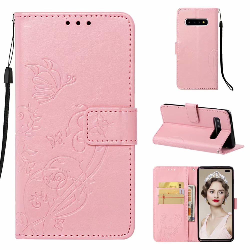 Flor Embossing Negócios Stand Flip Caso De Couro Do PLUTÔNIO Para O iphone 6s 7plus 8plus X coque Xsmax Phone Case capa Com cartão de Bolso