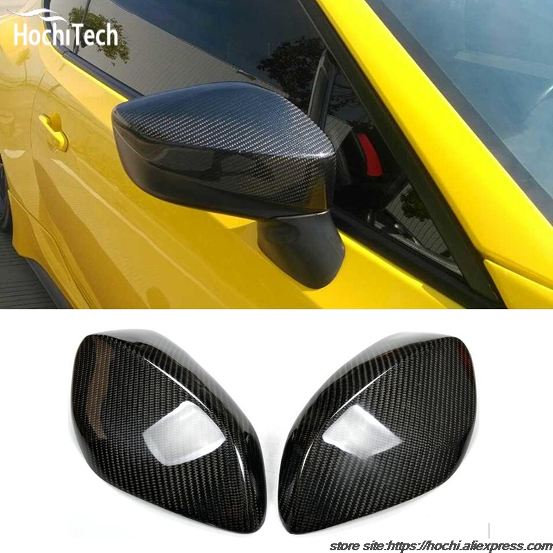 100% Carbon Fiber Rear View Mirror Cover Full add on style For Toyota GT 86 GT86 high quality