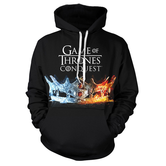 """Game Of Thrones Hoodies"" 3D Printing Hoodies 2"