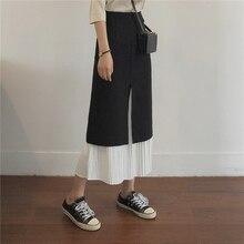 couleur unie jupe couture