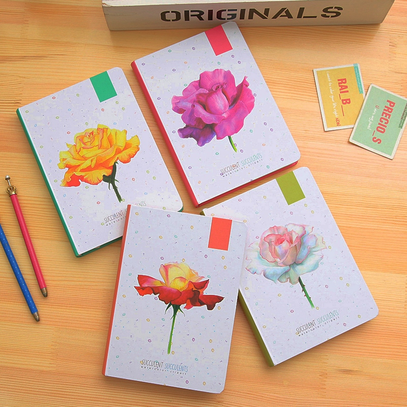 Fromthenon Korean Cute Flower Hardcover Notebook Journal Color Illustration Diary Planner Office And School Supplies StationeryFromthenon Korean Cute Flower Hardcover Notebook Journal Color Illustration Diary Planner Office And School Supplies Stationery