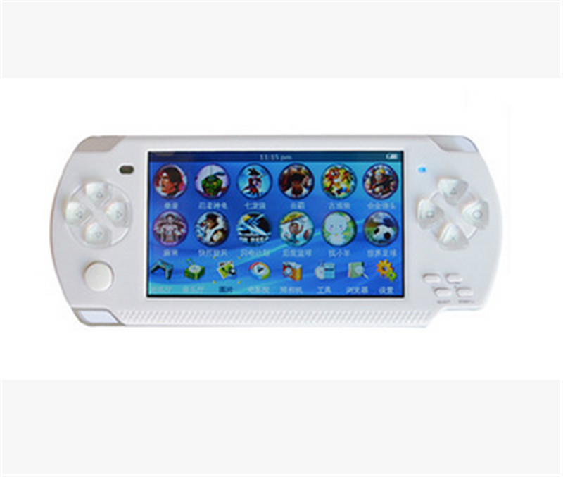 ФОТО 4.3 Inch Ultra-Thin 8G Built In Memory Video Game Console MP5 Music Player White