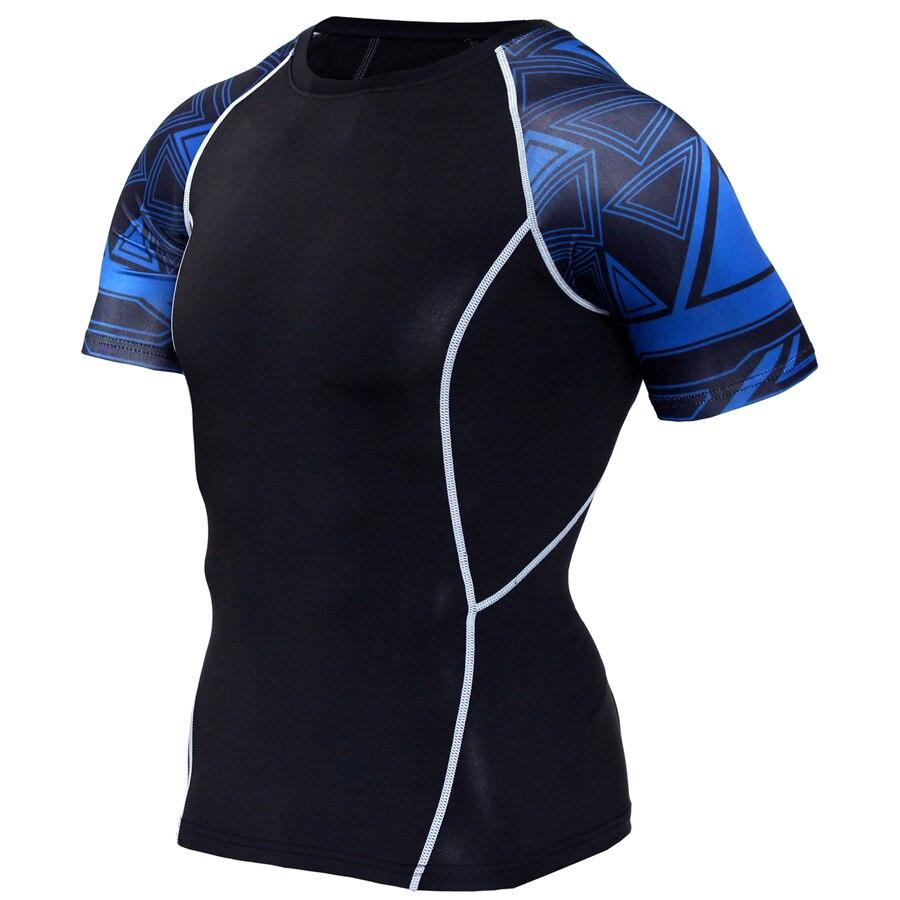 2017 Sporting T-shirts Männer Kurzarm Quick Dry Lauf T-shirt Outdoor Training Fitness Tops Rashguard Strumpfhosen Haut T-shirt