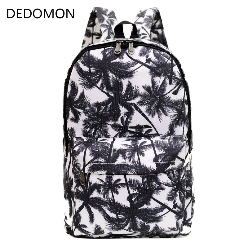 2019 Coconut Tree printing laptop backpack women canvas Bag famous brands travel backpacks satchel school bag for teenage girls2019 Coconut Tree printing laptop backpack women canvas Bag famous brands travel backpacks satchel school bag for teenage girls