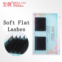 BRILLANT Soft Flat Lashes Volume Auto Natural  Faux mink Lash Extensions 0.15 Easy Deformation Mute Flattened