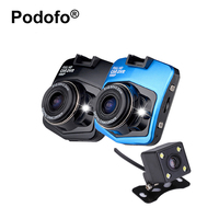 Podofo Dual Lens Car Camera Video Registrar with Backup Rearview Camera GT300 Car DVRs Dash Cam Full HD 1080P Parking Recorder