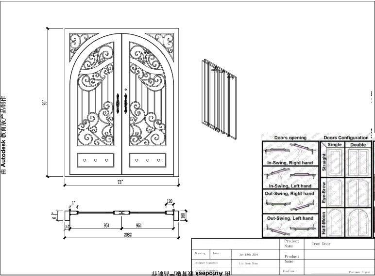 Hench 100% Steels Metal Iron Doors Austin Tx