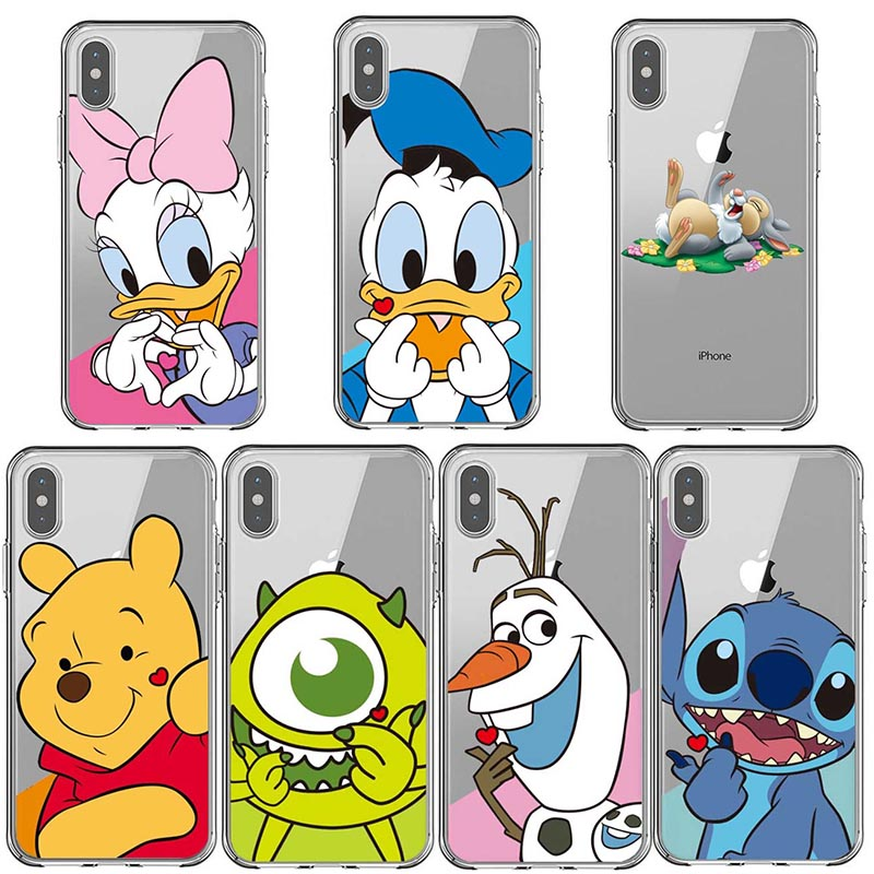 Cartoon Winnie pooh Stitch Snowman Soft Silicone Phone Case Cover For iPhone X 5 5S SE 6 6SPlus 7 8 Plus XS MAX XR winnie the pooh iphone case