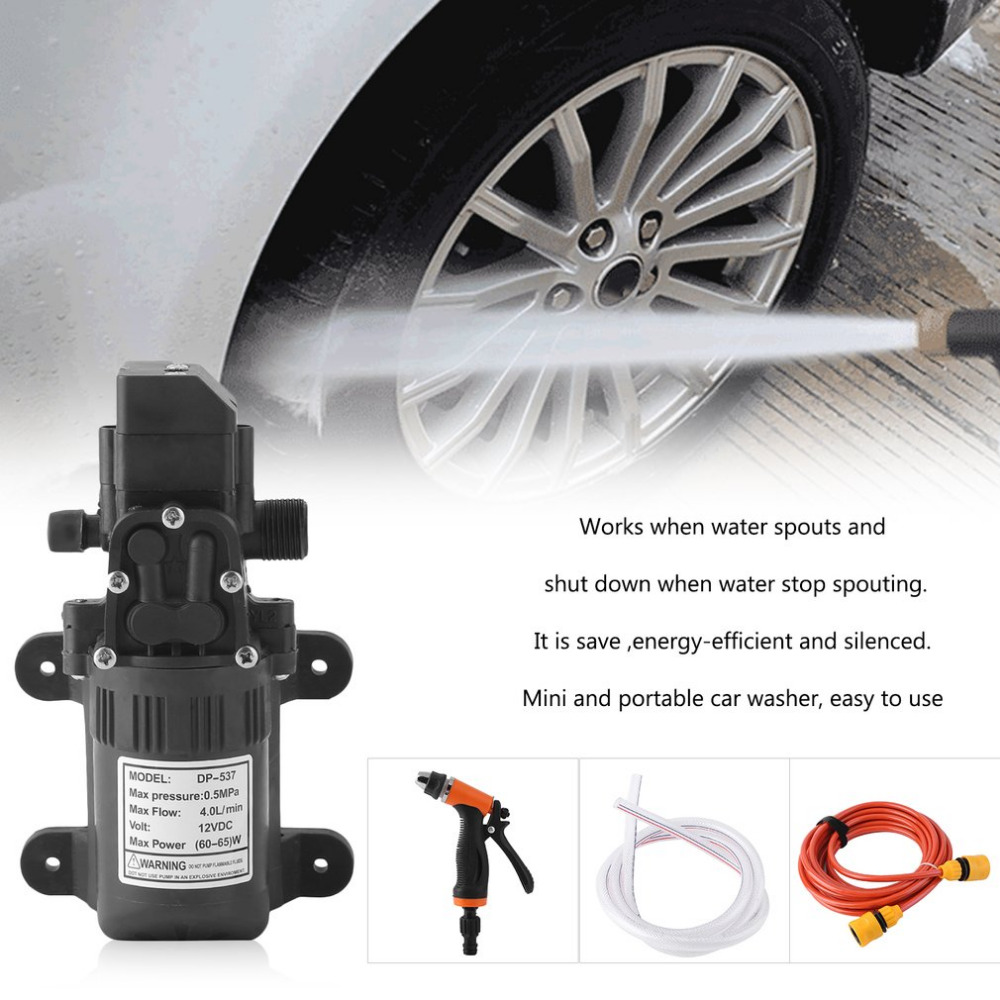 High Pressure Household  0.5Mpa 4L/min Electric Car Wash Washer Self-priming Water Pump 12V Car Washing Machine Free Shipping 480l h portable wash device car washing machine cleaning pump household high pressure car wash pump