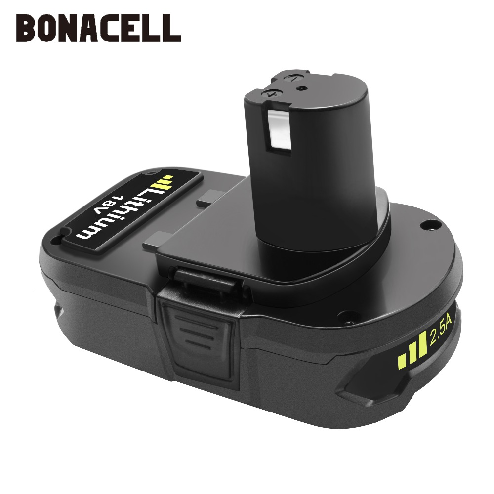 Image 3 - Bonacell 18V 2500mAh P107 Battery Replacement for Ryobi P104 P105 P102 P103 P107 Cordless Li ion Battery L30-in Replacement Batteries from Consumer Electronics
