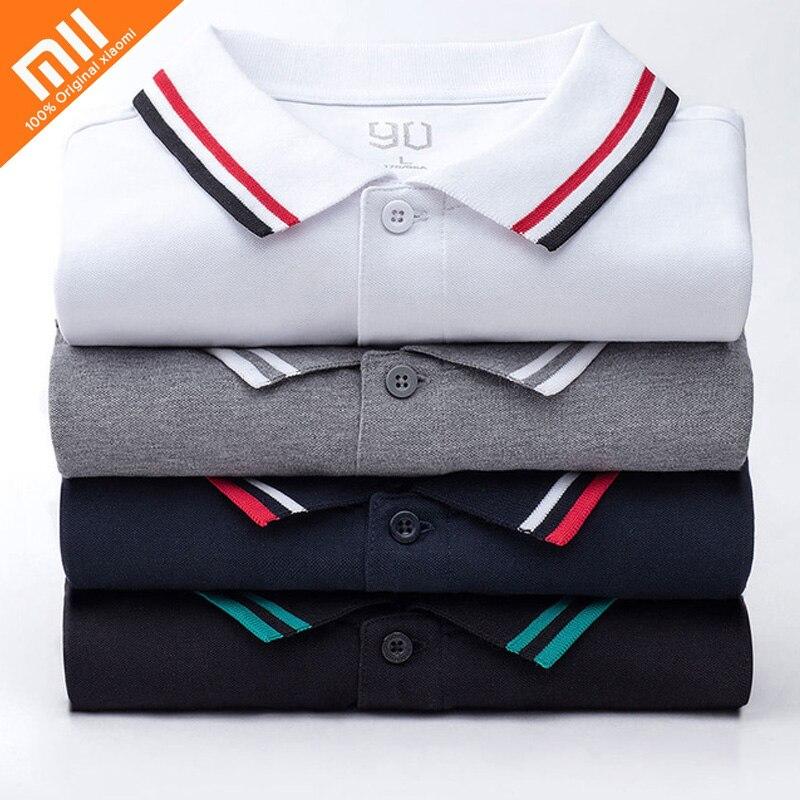 Authentic Xiaomi 90Fun Male Polo Shirt Printing 95% Cotton Fashion Summer Short Sleeve T-Shirt For Men New Designer Homme Tshirt
