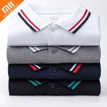 Аутентичные Xiaomi 90Fun мужской рубашки поло с принтом 95% хлопок модные летние шорты футболка с длинным рукавом для Для мужчин новый дизайнер Homme футболка