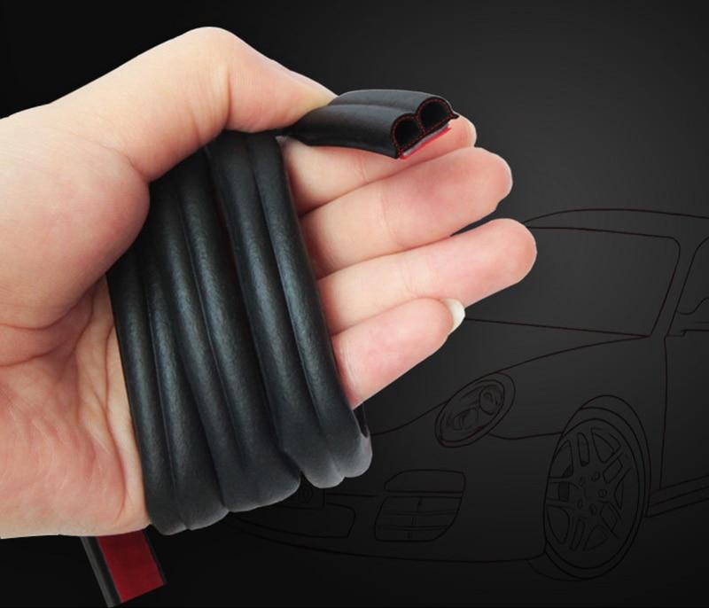 Car Stickers B Type Car Door Seal Strips Noise Weatherstrip Rubber Insulation Windproof For Door Edge Head Front Cover Trunk 8