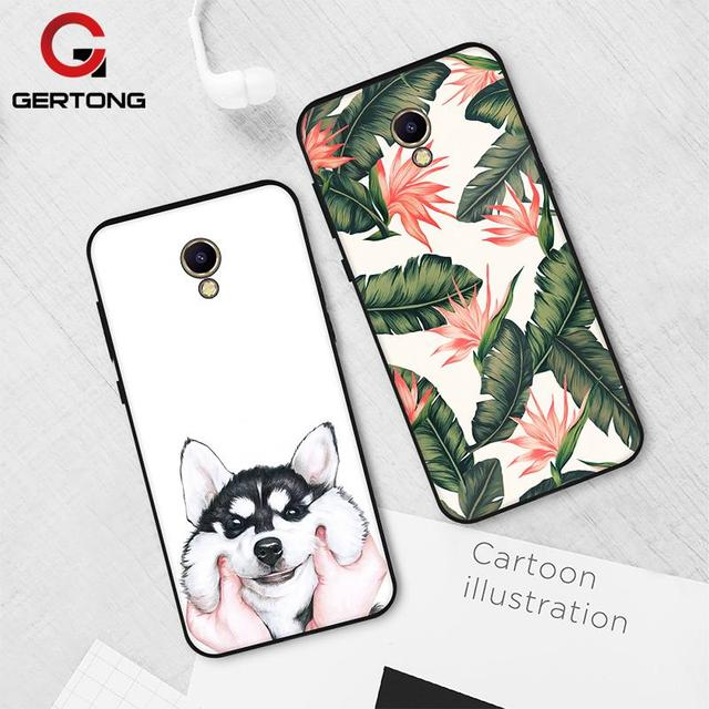 Gertong Silicone Soft TPU Phone Case For Meizu M6 M5 Note Cartoon Pattern Painted Soft Matte Back Cover for Meizu M5S M6 M5C